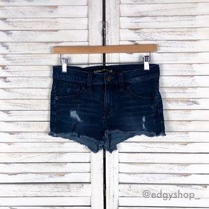 [Express] 2 Inch Mid Rise Cutoff Denim Shorts
